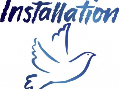 "image with ""installation"" and clip art of dove"